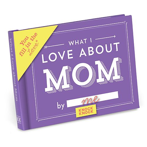 What I Love About Mom Fill-In-The-Blank Gift Book
