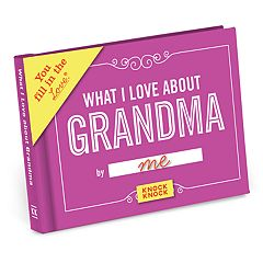 What I Love About Grandma Fill-In-The-Blank Gift Book