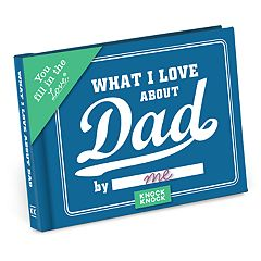 What I Love About Dad Fill-In-The-Blank Gift Book