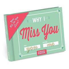 Why I Miss You Fill-In-The-Blank Gift Book