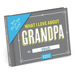 What I Love About Grandpa Fill-In-The-Blank Gift Book