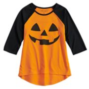 Girls' 7-16 Halloween Pumpkin Tee