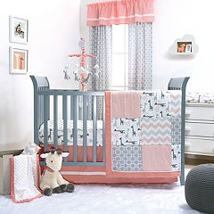 The Peanut Shell Uptown Girl 4-pc. Crib Bedding Set