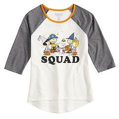 Girls' 7-16 Peanuts Halloween 'Squad' Tee