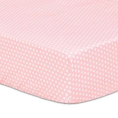The Peanut Shell Dotted Fitted Crib Sheet
