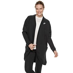 35f98ec29b2f Women s Nike Sportswear Cardigan. Black White Dark Gray ...