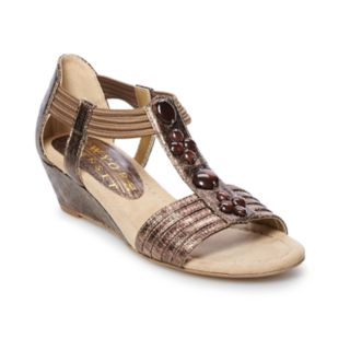New York Transit Text Me Women's Embellished Wedge Sandals