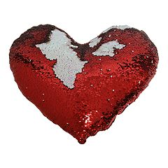 Brentwood Heart-Shaped Sequin Throw Pillow