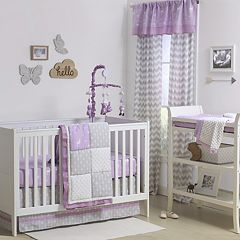 The Peanut Shell Wild & Free Patchwork 4-pc. Crib Bedding Set