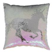 Brentwood Unicorn Sequin Throw Pillow