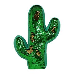 Brentwood Cactus-Shaped Sequin Throw Pillow