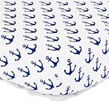 The Peanut Shell Anchors Fitted Crib Sheet