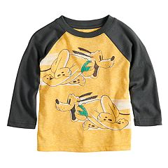 Disney's Pluto Baby Boy Raglan Long Sleeved Graphic Tee by Jumping Beans®