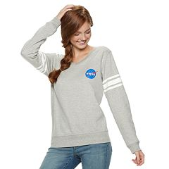 Juniors' NASA Long Sleeve Graphic Top