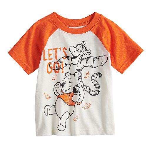 05917d6ea39df Disney s Winnie the Pooh Baby Boy Pooh   Tigger Raglan Graphic Tee by  Jumping Beans®