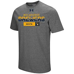 Men's Under Armour Milwaukee Brewers Heat Gear Clean Up Tee