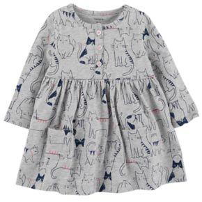 Baby Girl Carter's Print Henley Dress