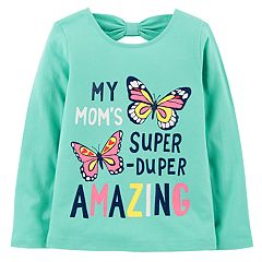 Baby Girl Carter's Bow-Back Graphic Tee