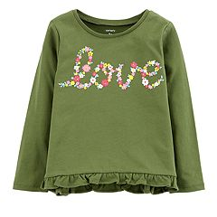 Baby Girl Carter's Ruffled-Hem Graphic Tee
