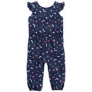 Baby Girl Carter's Floral Bow-Back Jumpsuit