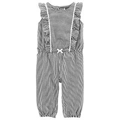 Baby Girl Carter's Print Ruffle Jumpsuit