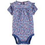 Baby Girl OshKosh B'gosh® Printed Ruffle Bodysuit