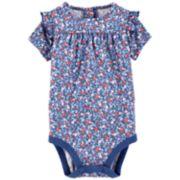 Baby Girl OshKosh B'gosh® Printed Ruffle Bodysuit