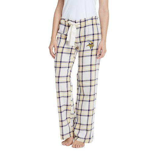 743598918f5 Women s Minnesota Vikings Flannel Pajama Pants