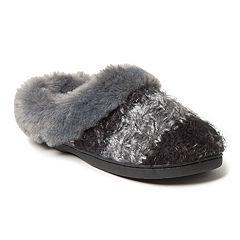 Women's Dearfoams Eyelash Cable Knit Clog Slippers