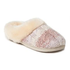 Women's Dearfoams Eyelash Cable Knit Clog Slippers