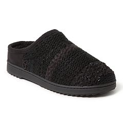 Women's Dearfoams Textured Knit Clog Slippers