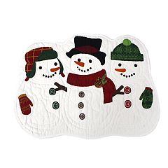 St. Nicholas Square® Quilted Snowman Placemat