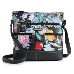 Stone & Co. Floral Super Pebbled Leather Crossbody