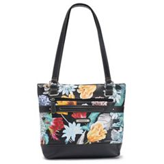 Stone & Co. Floral Pebbled Leather Tote