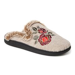 Women's Dearfoams Felt Scuff Slippers