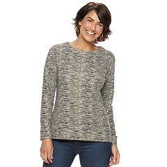 Petite Croft & Barrow® Extra-Soft Crewneck Sweatshirt