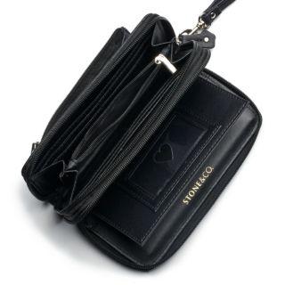 Stone & Co. Nancy Leather Double Zip Around Wallet