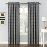 Sun Zero 1-Panel Dmitri Damask Print Room Darkening Curtain
