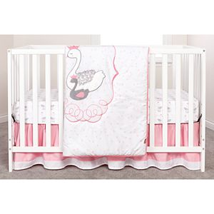Trend Lab Swans 3 Piece Crib Bedding Set