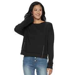 Juniors' SO® Zipper Fleece Crop Pullover