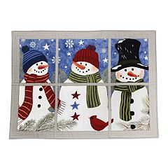 St. Nicholas Square® Snowman Faux Applique Placemat