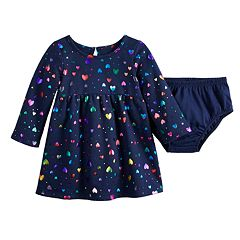 Baby Girl Jumping Beans® Graphic Fleece Dress
