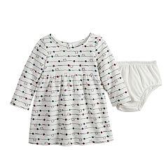 Baby Girl Jumping Beans® Graphic Fleece Dress