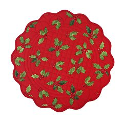 St. Nicholas Square® Holly Quilted Placemat