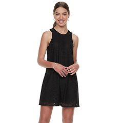 Juniors' Speechless Lace Shift Dress