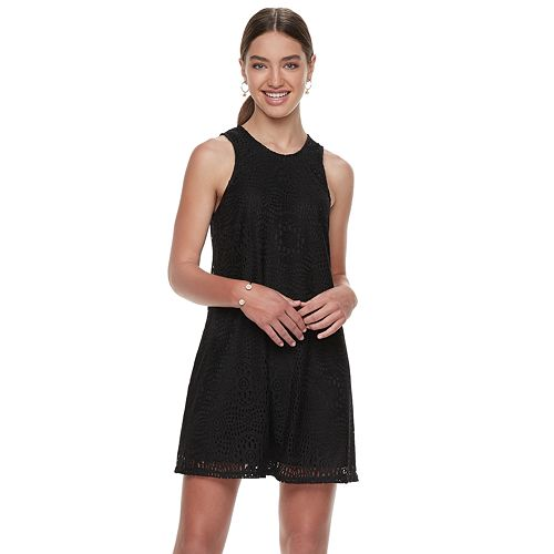Juniors' Speechless Lace Shift Dress