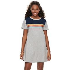 Juniors' Wallflower Striped T-Shirt Dress