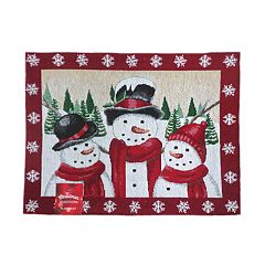 St Nicholas Square Snowman Tapestry Placemat