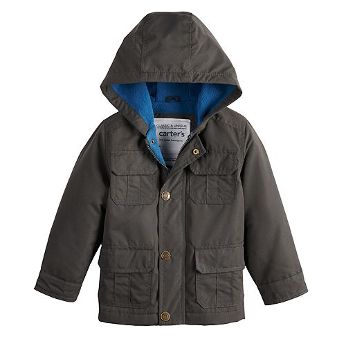 Toddler Boy Carter's Fleece Lined Midweight Hooded Jacket