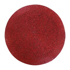 St. Nicholas Square® Red Beaded Round Placemat